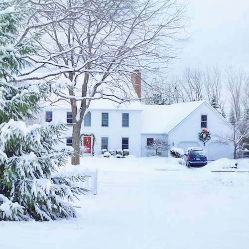 winter selling home